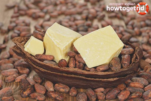 Propietats útils i aplicació de mantega de cacau