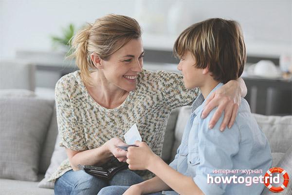 Estimular un fill amb diners
