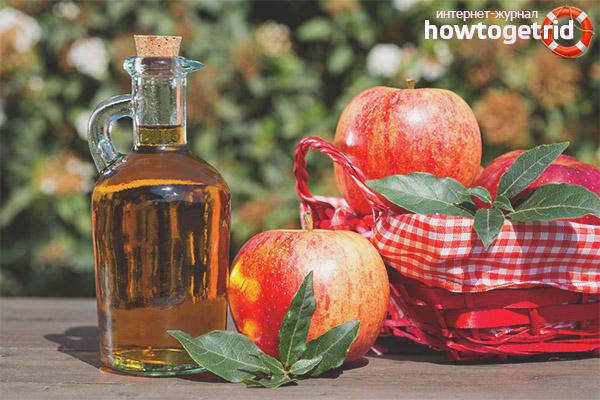 Нанасяне на ябълков оцет върху лицето