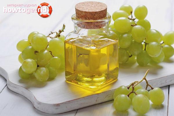 Traubenöl gegen fettige Haut