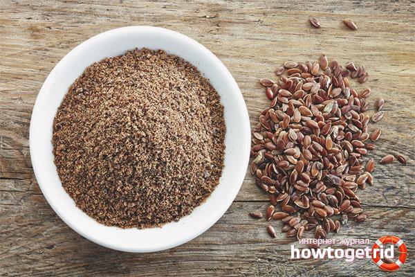 Rentar els intestins amb farina de lli