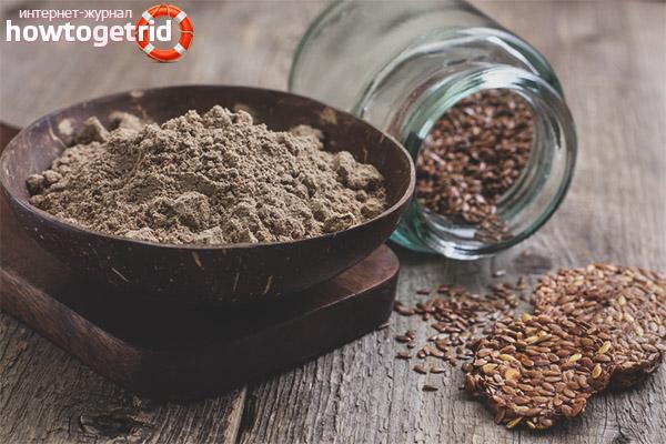 Hur man tar linmjöl för viktminskning