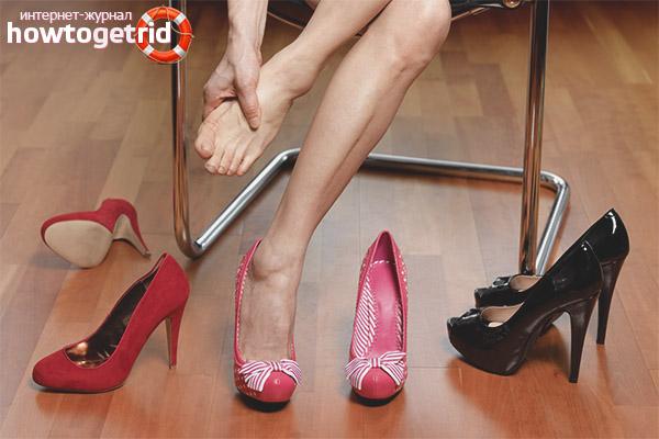 Cách mang giày nhún trong ngón tay
