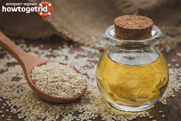 Sezamový olej na tvár