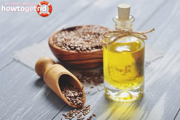 Leinsamenöl für das Gesicht