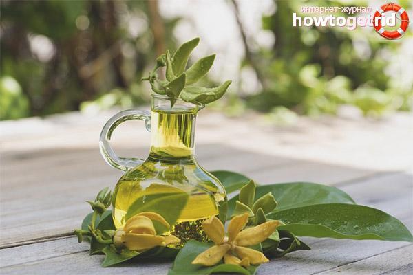 Ansigtsmasker med ylang-ylang olie