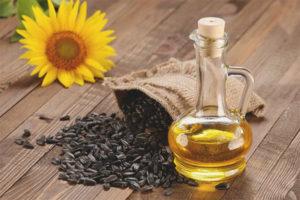 Slnečnicový olej na tvár