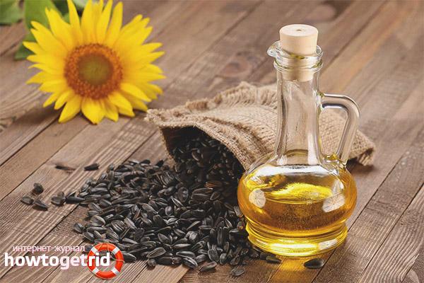 Sonnenblumengesichtsöl