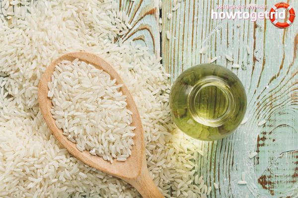 Propietats útils i contraindicacions de l'oli d'arròs