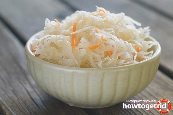 Regeln für den Empfang von Sauerkraut