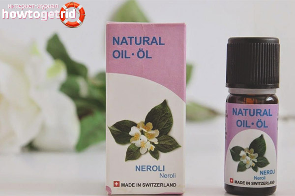 Neroli ēteriskās eļļas lietošana ādai