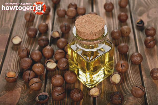 Použitie makadamového oleja na pokožku tváre