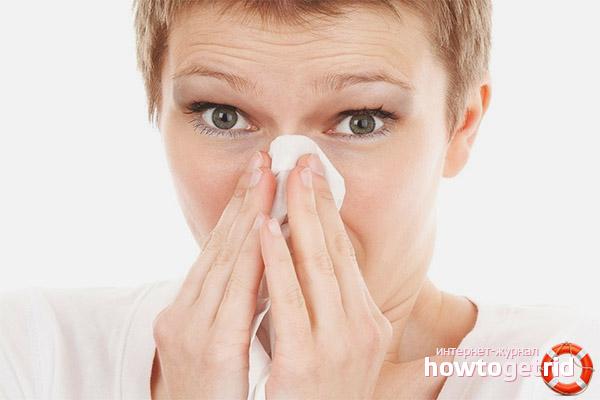 Geruch während einer Erkältung verloren