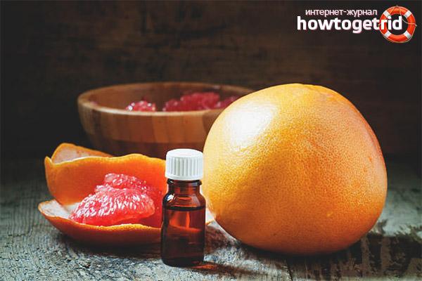 Recepty na tvár s grepovým olejom