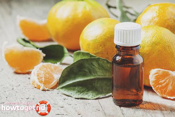 Mandarīnu ēterisko eļļu receptes