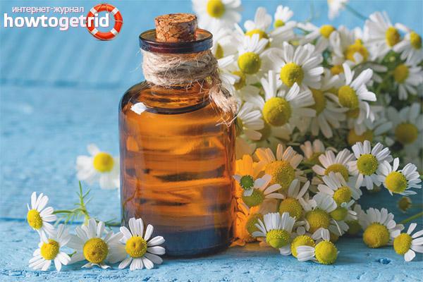 Resipi berdasarkan minyak chamomile kosmetik