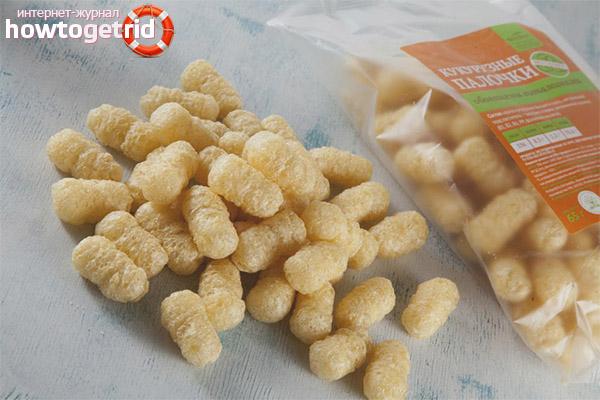 Paus de amamentação de milho