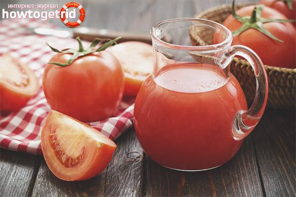 Възможно ли е за бременни доматен сок