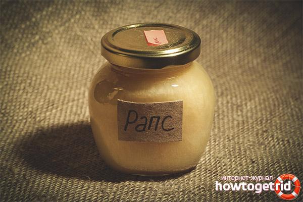 Propietats útils i contraindicacions de la mel de colza