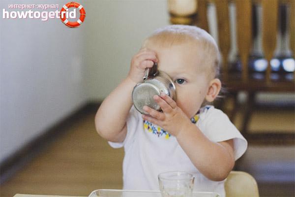 Recomendações do pediatra para tomar chá pelas crianças