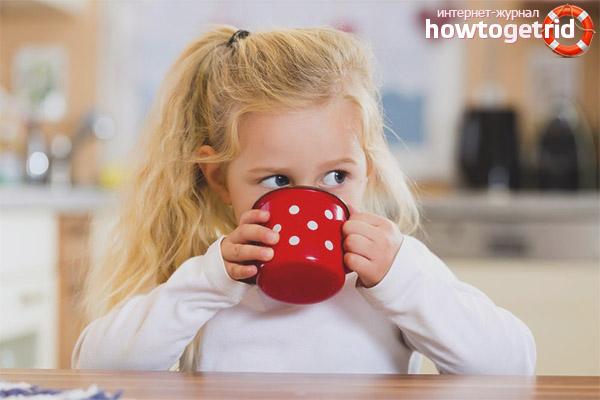 Com que idade uma criança pode tomar chá