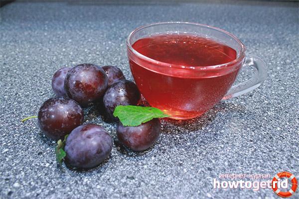 Compot de prune fără apă