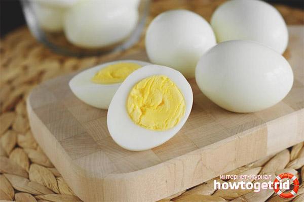 Eier nach dem Training