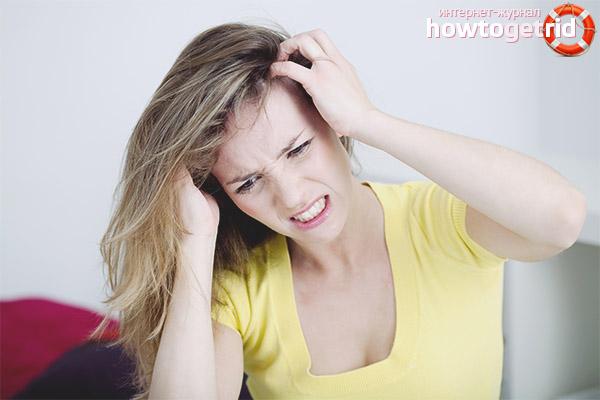 Wie Schuppen und Juckreiz des Kopfes loszuwerden