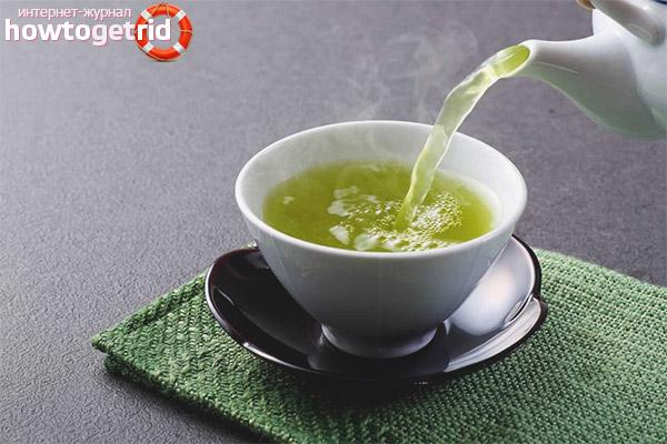 Wie man einer stillenden Mutter grünen Tee trinkt