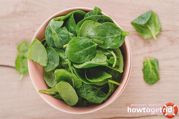 Wie man Spinat in die Ernährung einer stillenden Mutter einführt