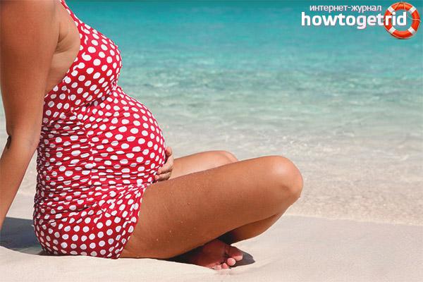 Kan gravide gå til havet