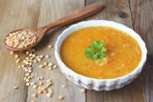 Pot sopa de pèsols embarassada
