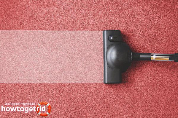 ניקוי שטיחים באבקת כביסה ונפט