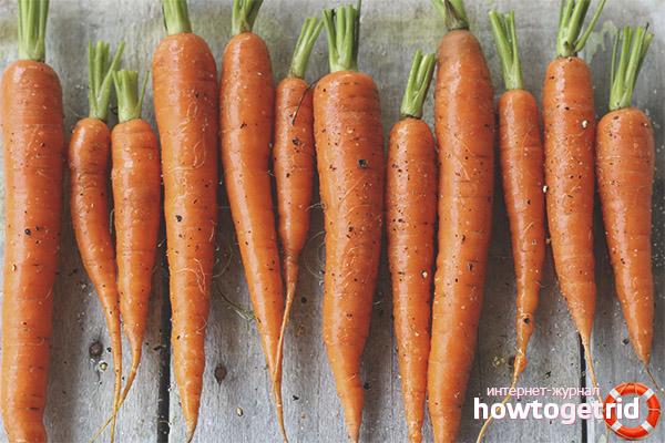Propriedades úteis de cenoura para diabetes