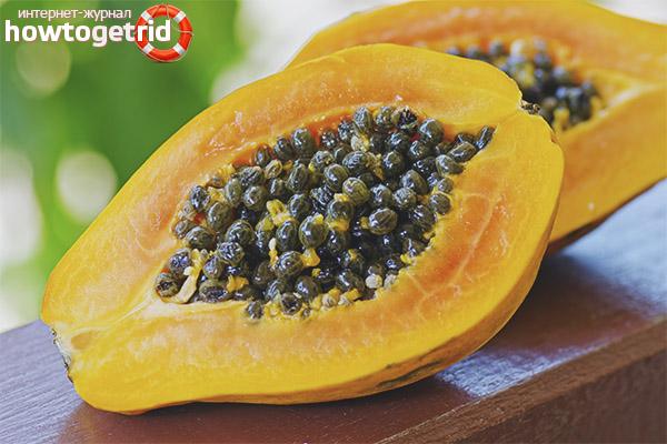 Contraindicacions de papaia