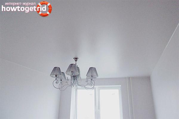 Saténový strečový strop