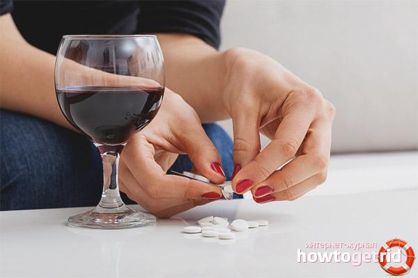 Tôi có thể uống aspirin sau khi uống rượu không?