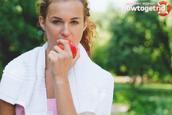 Nährwertangaben von Äpfeln für Sportler