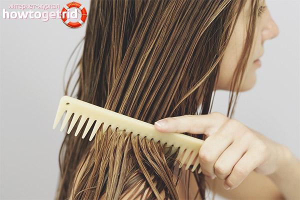 Nasses Haar ohne Schaden kämmen