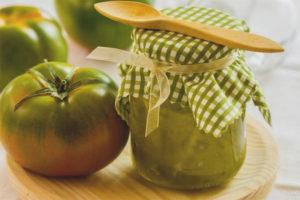 Zelený paradajkový džem