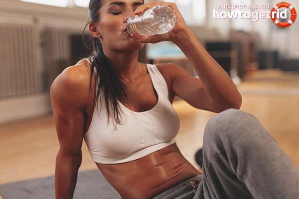 Вода после тренинга