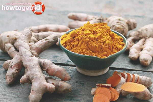 Rekommendationer för användning av gurkmeja för medicinska ändamål och för viktminskning