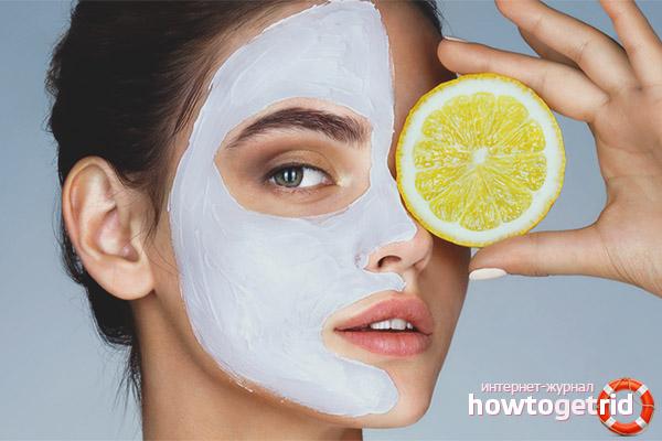 Màscares efectives amb llimona per la cara