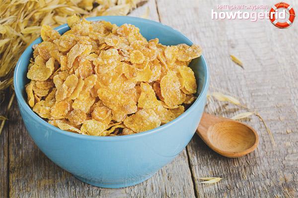 Stillende Cornflakes