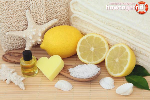 Пилинг за лице от лимон
