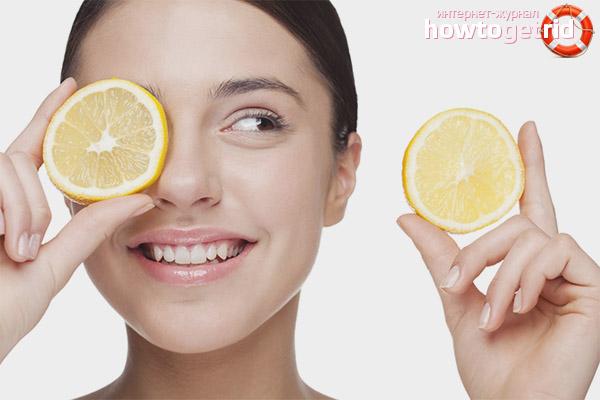 Пилинг за лице с лимон