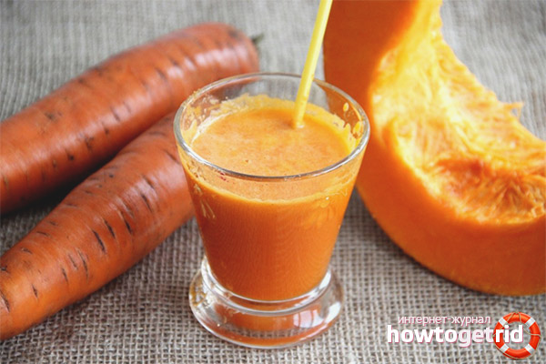 Karottensaft mit Kürbis für den Winter