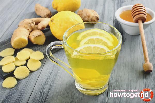 Напитка от джинджифил, лимон и мед