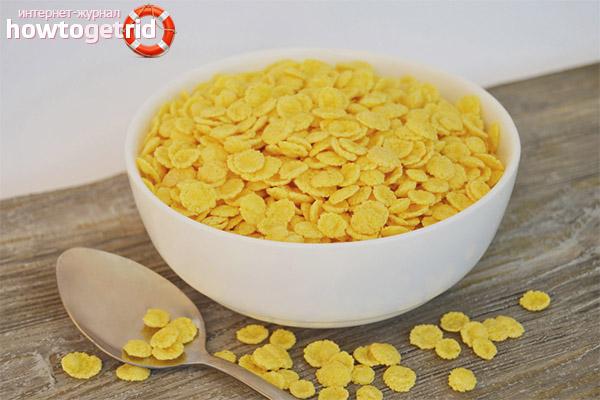 Empfang und Dosierung von Cornflakes