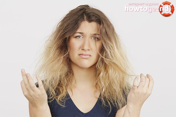 Trockene Haarpflege